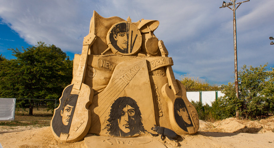 Festival of sand sculptures